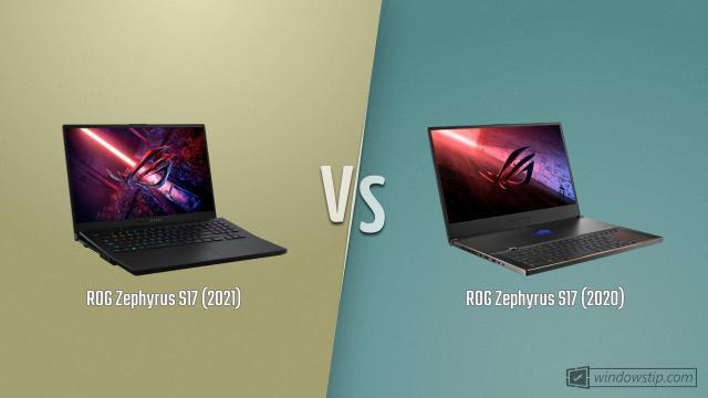 ASUS ROG Zephyrus S17 vs. ROG Zephyrus S17 GX701L