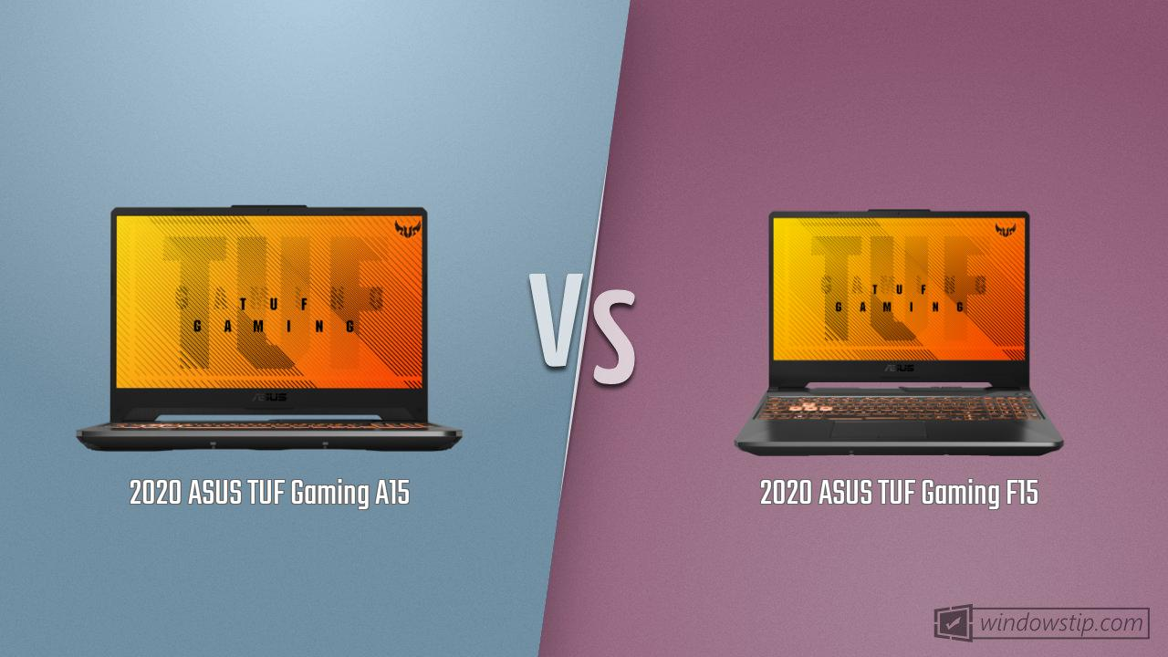 ASUS TUF Gaming A15 vs. ASUS TUF Gaming F15: Full specs comparison