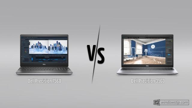 Dell Precision 7560 vs. Dell Precision 3560