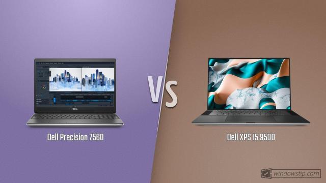 Dell Precision 7560 vs. Dell XPS 15 9500