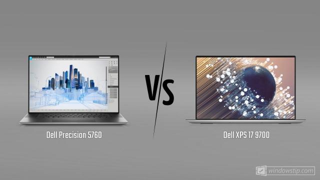 Dell Precision 5760 vs. Dell XPS 17 9700