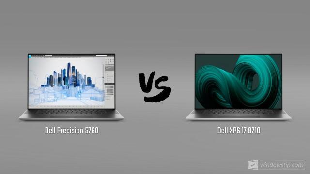 Dell Precision 5760 vs. Dell XPS 17 9710