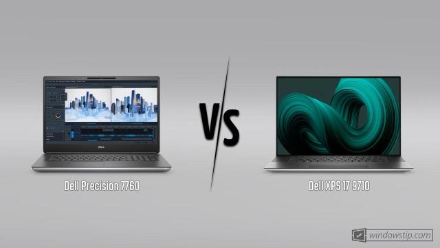 Dell Precision 7760 vs. Dell XPS 17 9710