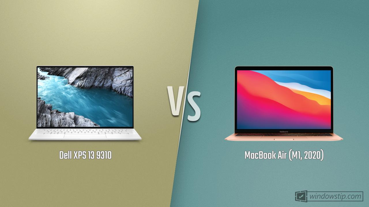 Dell XPS 13 9310 vs. MacBook Air (M1, 2020)