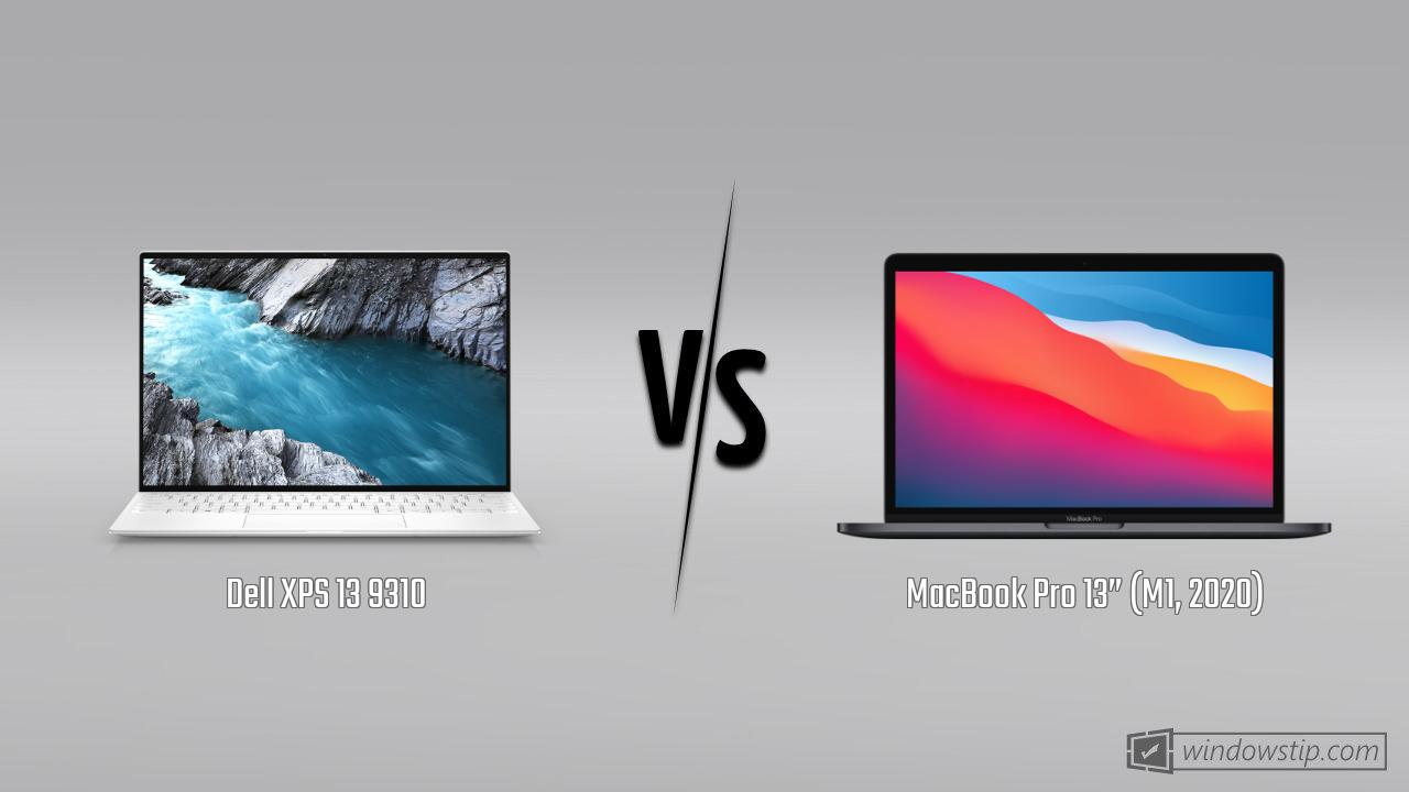 "Dell XPS 13 9310 vs. MacBook Pro 13"" (M1, 2020)"