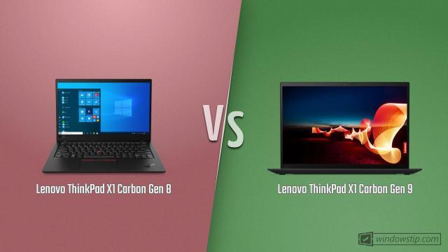 Lenovo ThinkPad X1 Carbon Gen 8 vs. Lenovo ThinkPad X1 Carbon Gen 9