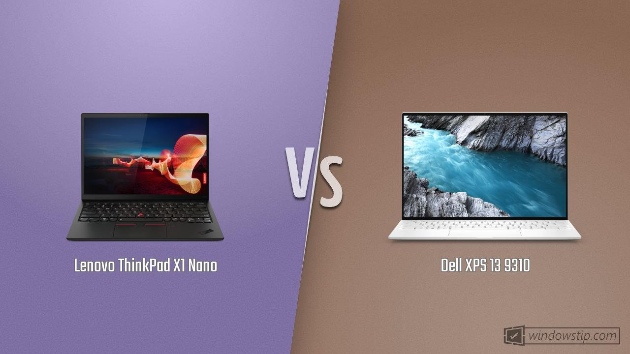 Lenovo ThinkPad X1 Nano vs. Dell XPS 13 9310: Full specs comparison
