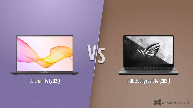 LG Gram 14 (2021) vs. ROG Zephyrus G14 (2021)