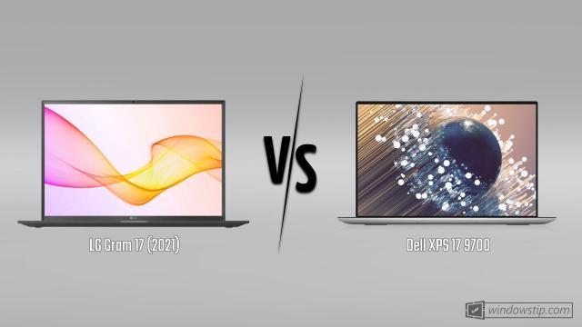 LG Gram 17 (2021) vs. Dell XPS 17 9700
