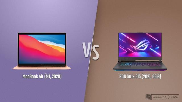 MacBook Air (M1, 2020) vs. ROG Strix G15 (2021, G513 ...