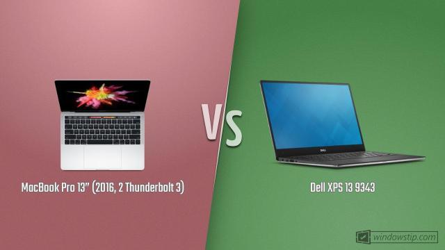 "MacBook Pro 13"" (2016, 2 Thunderbolt 3) vs. Dell XPS 13 ..."