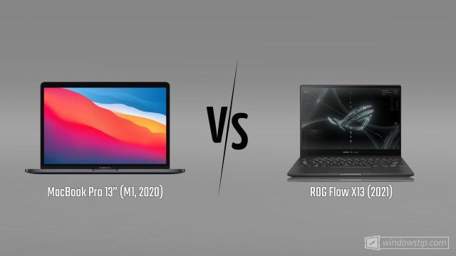 """MacBook Pro 13"""" (M1, 2020) vs. ROG Flow X13 (2021 ..."""
