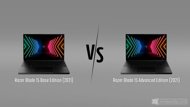 Razer Blade 15 Base Edition (2021) vs. Razer Blade 15 Advanced Edition (2021)