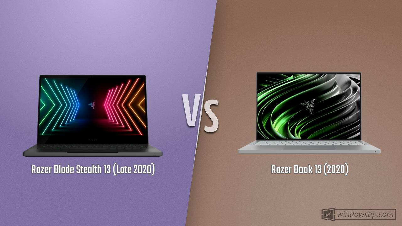 Razer Blade Stealth 13 (Late 2020) vs. Razer Book 13 (2020)