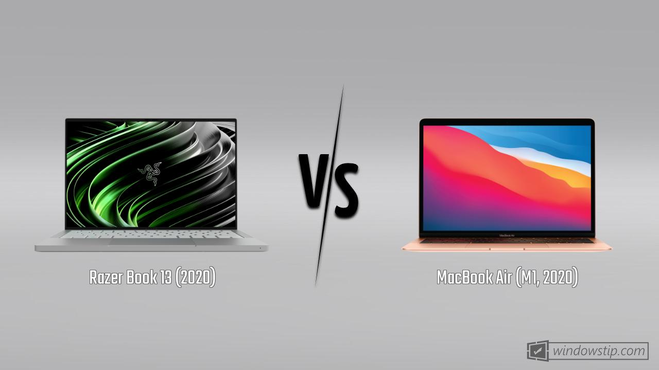 Razer Book 13 (2020) vs. MacBook Air (M1, 2020)