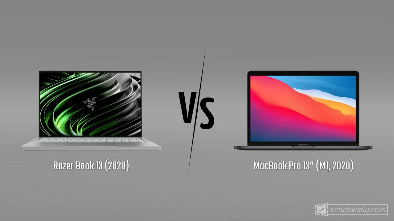 "Razer Book 13 (2020) vs. MacBook Pro 13"" (M1, 2020)"