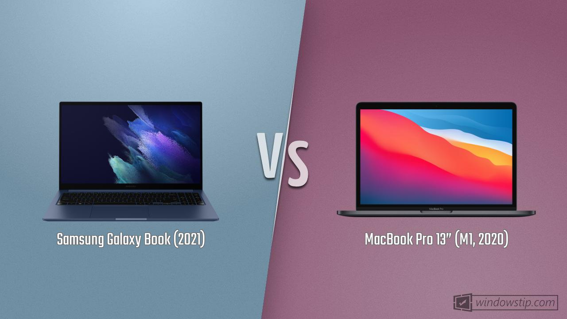 "Samsung Galaxy Book (2021) vs. MacBook Pro 13"" (M1, 2020 ..."