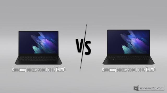 Samsung Galaxy Book Pro 13 (2021) vs. Samsung Galaxy Book Pro 15 (2021)