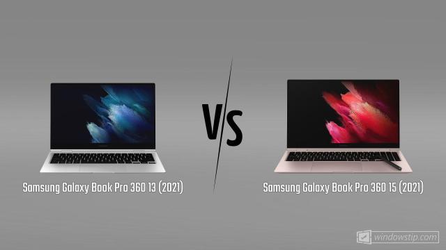Samsung Galaxy Book Pro 360 13 (2021) vs. Samsung Galaxy Book Pro 360 15 (2021)
