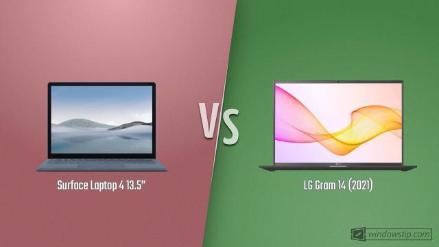 "Surface Laptop 4 13.5"" vs. LG Gram 14 (2021)"