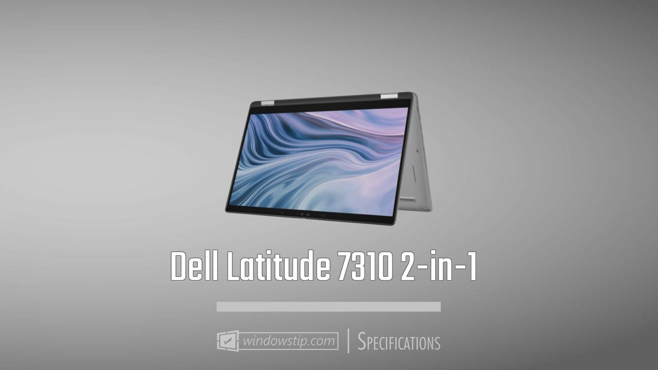 Dell Latitude 7310 2-in-1